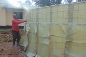 The Water Project: Ebukuya Special School for the Deaf -  Sack Placing