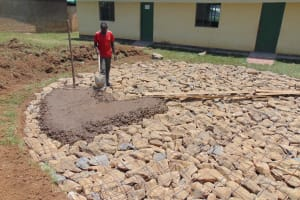 The Water Project: Ebukuya Special School for the Deaf -  Concrete Placement