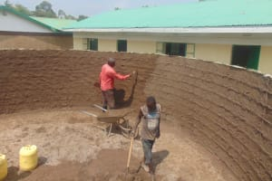 The Water Project: Ebukuya Special School for the Deaf -  Inside Plastering