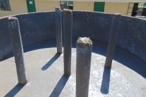 The Water Project: Ebukuya Special School for the Deaf -  Pillar Setting
