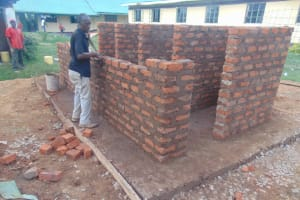 The Water Project: Ebukuya Special School for the Deaf -  Vip Latrine Brickwork