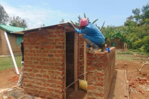 The Water Project: Ebukuya Special School for the Deaf -  Vip Latrine Roofing