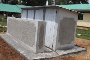 The Water Project: Ebukuya Special School for the Deaf -  Complete Boys Latrines