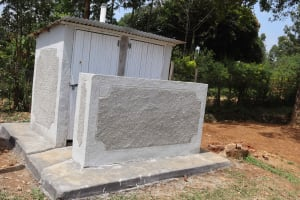 The Water Project: Ebukuya Special School for the Deaf -  Complete Girls Latrines