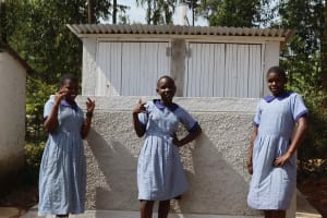 The Water Project: Ebukuya Special School for the Deaf -  Girls At Their Latrines