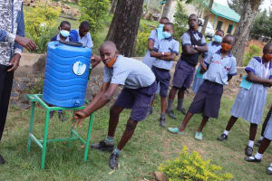 The Water Project: Ebukuya Special School for the Deaf -  Handwashing Training