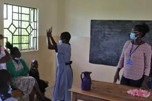 The Water Project: Ebukuya Special School for the Deaf -  Non Contact Greetings