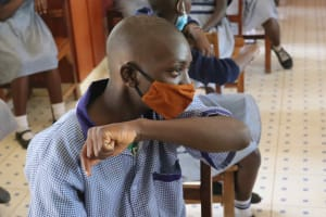 The Water Project: Ebukuya Special School for the Deaf -  Sneezing In Elbow