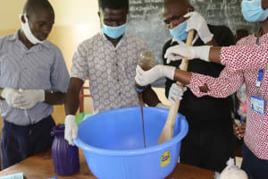 The Water Project: Ebukuya Special School for the Deaf -  Soapmaking Process