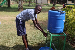 The Water Project: Ebukuya Special School for the Deaf -  Students Washing Hands