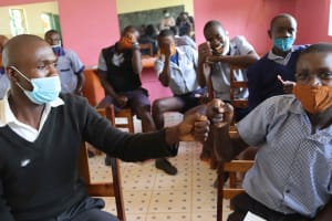 The Water Project: Ebukuya Special School for the Deaf -  Contactless Greetings