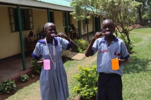 The Water Project: Ebukuya Special School for the Deaf -  Dental Hygiene Training
