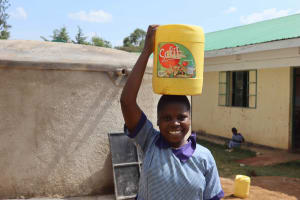 The Water Project: Ebukuya Special School for the Deaf -  Students Carrying