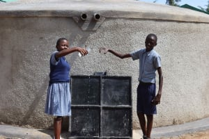 The Water Project: Ebukuya Special School for the Deaf -  Students Celebrating