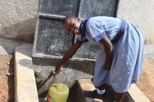The Water Project: Ebukuya Special School for the Deaf -  Students Fetching Water