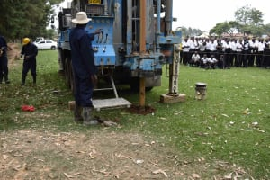 The Water Project: Shamberere Boys' High School -  Start Of Drilling Process