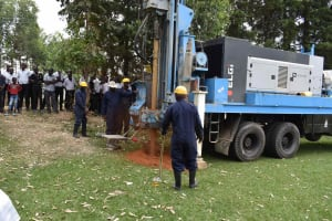 The Water Project: Shamberere Boys' High School -  Drilling Process
