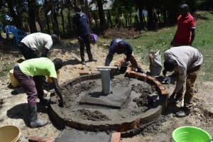 The Water Project: Shamberere Boys' High School -  Apron Construction