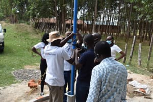 The Water Project: Shamberere Boys' High School -  Pump Installation
