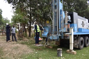 The Water Project: Shamberere Boys' High School -  Drilling Rig Setting