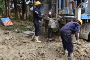 The Water Project: Shamberere Boys' High School -  Surface Casing Placement
