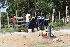 The Water Project: Shamberere Boys' High School -  Test Pumping