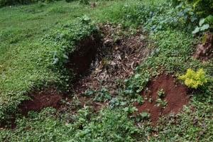 The Water Project: Shivakala Community, Mukangu Spring -  Compost Pit