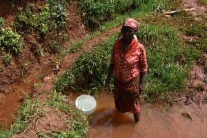 The Water Project: Shivakala Community, Mukangu Spring -  Florence At Water Point