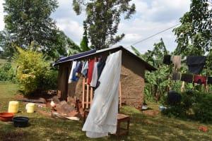 The Water Project: Shivakala Community, Mukangu Spring -  Clothesline