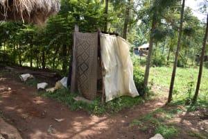 The Water Project: Mang'uliro Community, Christopher Wambula Spring -  Bathing Shelter