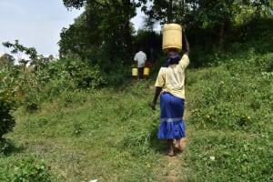 The Water Project: Mang'uliro Community, Christopher Wambula Spring -  Carrying Water