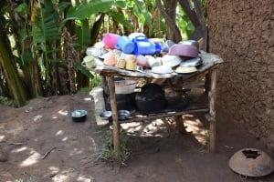 The Water Project: Mang'uliro Community, Christopher Wambula Spring -  Dishrack