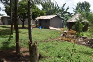 The Water Project: Mang'uliro Community, Christopher Wambula Spring -  Household Compound