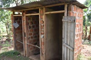 The Water Project: Mang'uliro Community, Christopher Wambula Spring -  Latrine