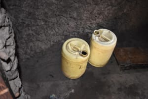 The Water Project: Mang'uliro Community, Christopher Wambula Spring -  Water Containers