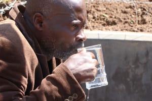 The Water Project: Nangurunya Community, Robert Musali Spring -  Enjoying Clean Water