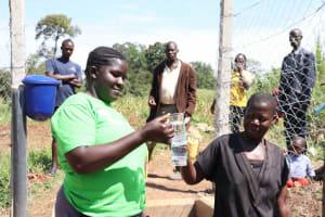 The Water Project: Nangurunya Community, Robert Musali Spring -  Glasses High