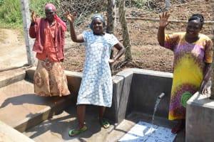 The Water Project: Nangurunya Community, Robert Musali Spring -  Ladies At The Water Point