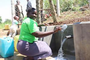 The Water Project: Nangurunya Community, Robert Musali Spring -  Water Joy
