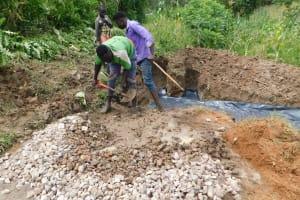 The Water Project: Nangurunya Community, Robert Musali Spring -  Concrete Works