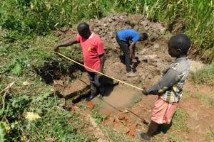 The Water Project: Nangurunya Community, Robert Musali Spring -  Site Measurements