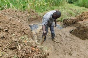 The Water Project: Nangurunya Community, Robert Musali Spring -  Slab Setting