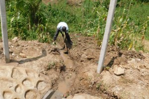 The Water Project: Nangurunya Community, Robert Musali Spring -  Drainage Opening