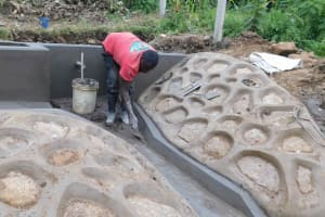 The Water Project: Nangurunya Community, Robert Musali Spring -  Plaster Works