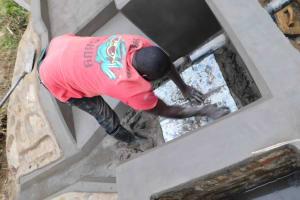 The Water Project: Nangurunya Community, Robert Musali Spring -  Tiles Making