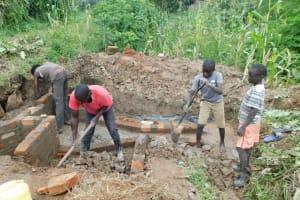 The Water Project: Nangurunya Community, Robert Musali Spring -  Construction