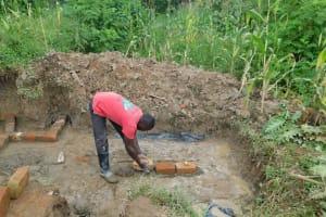 The Water Project: Nangurunya Community, Robert Musali Spring -  Brick Setting