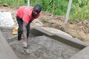 The Water Project: Nangurunya Community, Robert Musali Spring -  Stair Plaster Works