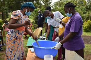 The Water Project: Nangurunya Community, Robert Musali Spring -  Soapmaking Demonstration