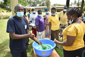 The Water Project: Nangurunya Community, Robert Musali Spring -  Soapmaking